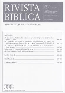 Rivista biblica (2017). Vol. 3 - copertina