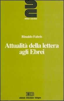 Attualità della Lettera agli Ebrei - Rinaldo Fabris - copertina