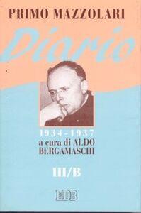 Libro Diario (1934-1937). Vol. 3/B Primo Mazzolari