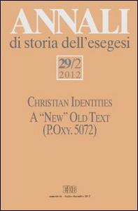 Libro Annali di storia dell'esegesi (2012). Vol. 29\2