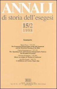 Libro Annali di storia dell'esegesi. Vol. 15\2: 1998.