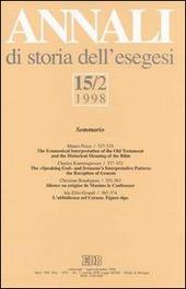 Annali di storia dell'esegesi. Vol. 15/2: 1998.