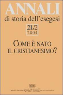 Annali di storia dell'esegesi (2004). Vol. 21\1: La pluralità delle identità cristiane a. - copertina