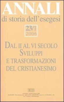 Ipabsantonioabatetrino.it Annali di storia dell'esegesi (2006). Vol. 23\1 Image