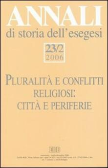 Annali di storia dell'esegesi (2006). Vol. 23\2 - copertina