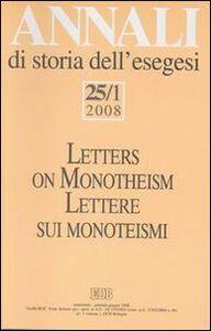 Libro Annali di storia dell'esegesi (2008). Vol. 25\1