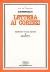 Libro Lettera ai Corinzi Clemente Romano