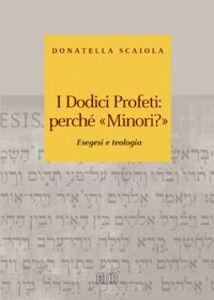 Foto Cover di I dodici profeti: perché «minori?». Esegesi e teologia, Libro di Donatella Scaiola, edito da EDB