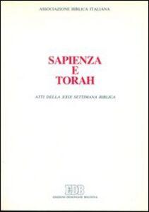 Libro Sapienza e Torah. Atti della 29ª Settimana biblica