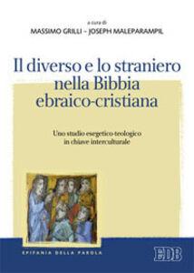 Foto Cover di Il diverso e lo straniero nella Bibbia ebraico-cristiana. Uno studio esegetico-teologico in chiave interculturale, Libro di  edito da EDB