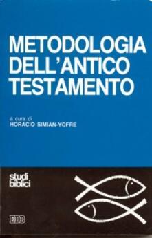Metodologia dell'Antico Testamento - copertina