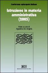 Istruzione in materia amministrativa (2005)