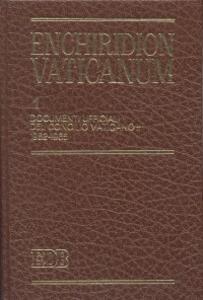 Enchiridion Vaticanum. Vol. 1: Documenti ufficiali del Concilio Vaticano II (1962-1965).