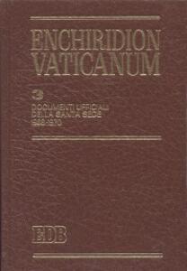 Enchiridion Vaticanum. Vol. 3: Documenti ufficiali della Santa Sede (1968-1970).