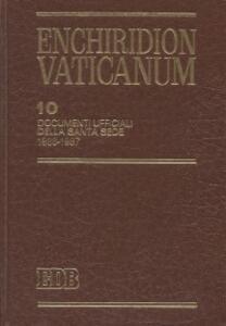 Enchiridion Vaticanum. Vol. 10: Documenti ufficiali della Santa Sede (1986-1987). - copertina