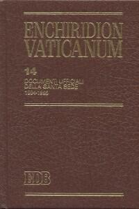 Enchiridion Vaticanum. Vol. 14: Documenti ufficiali della Santa Sede (1994-1995). - copertina