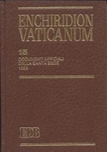 Enchiridion Vaticanum. Vol. 15: Documenti ufficiali della Santa Sede (1996).