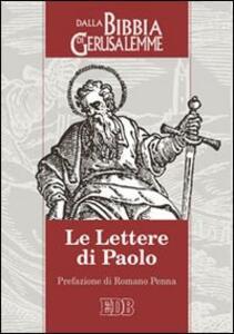 Le lettere di Paolo. Dalla Bibbia di Gerusalemme - copertina