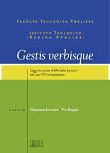 Gestis verbisque. Saggi in onore di Michele Lenoci nel suo 70° compleanno - copertina