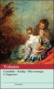 Libro Candido-Zadig-Micromega-L'ingenuo Voltaire