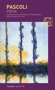 Libro Poesie Giovanni Pascoli