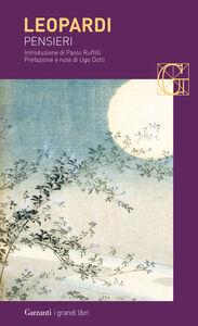 Foto Cover di Pensieri, Libro di Giacomo Leopardi, edito da Garzanti Libri