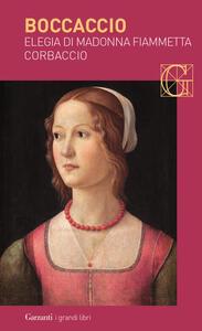 Elegia di madonna Fiammetta-Corbaccio - Giovanni Boccaccio - copertina