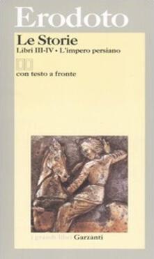 Winniearcher.com Le storie. Libri 3º-4º: L'impero persiano. Testo greco a fronte Image