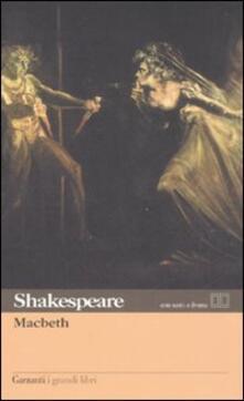 Macbeth. Testo inglese a fronte - William Shakespeare - copertina