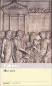 Manuale. Testo greco e latino a fronte - Epitteto - copertina