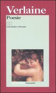 Poesie. Testo francese a fronte - Paul Verlaine - copertina