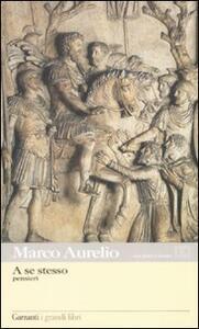 A se stesso. Testo greco a fronte - Marco Aurelio - copertina