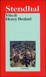 Libro Vita di Henry Brulard Stendhal