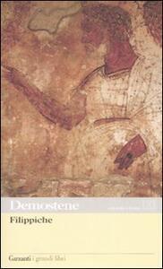 Filippiche. Testo greco a fronte - Demostene - copertina