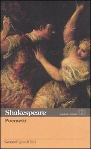 Libro Poemetti. Testo inglese a fronte William Shakespeare