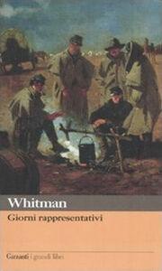 Libro Giorni rappresentativi Walt Whitman