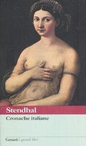 Foto Cover di Cronache italiane, Libro di Stendhal, edito da Garzanti Libri