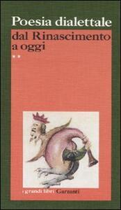 Poesia dialettale dal Rinascimento a oggi - copertina