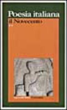 Poesia italiana. Il Novecento - copertina