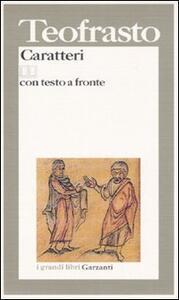 Caratteri. Testo greco a fronte