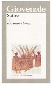 Foto Cover di Satire. Testo latino a fronte, Libro di D. Giunio Giovenale, edito da Garzanti Libri