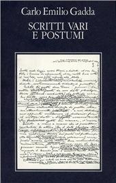 Opere. Vol. 5: Scritti vari e postumi. Bibliografia e indici.