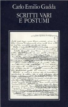 Opere. Vol. 5: Scritti vari e postumi. Bibliografia e indici. - Carlo Emilio Gadda - copertina
