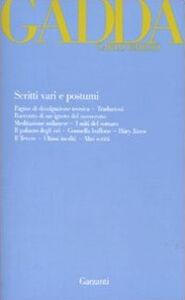 Libro Scritti vari e postumi Carlo E. Gadda
