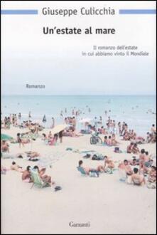 Un' estate al mare - Giuseppe Culicchia - copertina