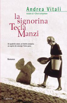 La signorina Tecla Manzi - Andrea Vitali - copertina