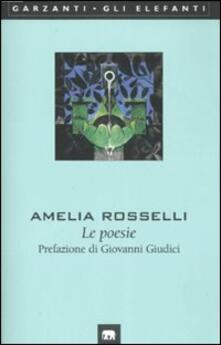 Le poesie - Amelia Rosselli - copertina