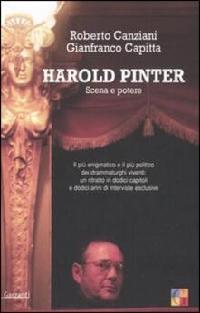 Harold Pinter. Scena e potere - Roberto Canziani,Gianfranco Capitta - copertina
