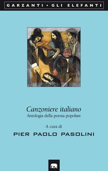 Canzoniere italiano. Antologia della poesia popolare - copertina