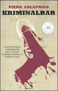 Libro Kriminalbar Piero Colaprico